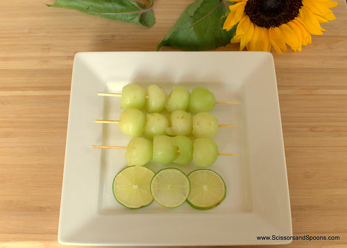Ginger Lime Honeydew Skewers