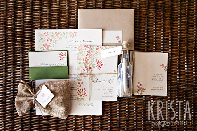 Destination Wedding Invitations by Krista Guenin