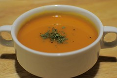 calabaza(0.0), produce(0.0), tarhana(1.0), tomato soup(1.0), bisque(1.0), food(1.0), dish(1.0), soup(1.0),