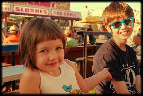 Ivy & Noah at the fair