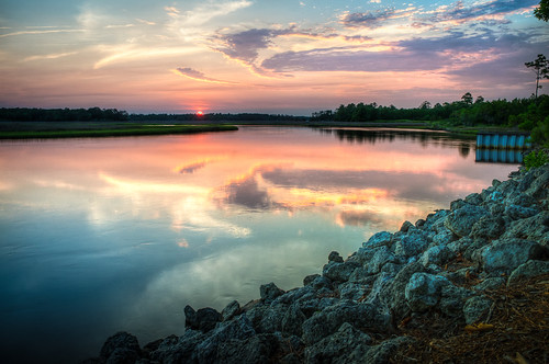 sunset river northcarolina tidal lookwoodfolly