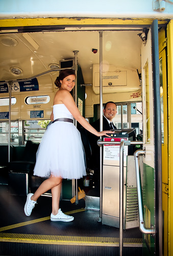Julie Michelle Photography San Francisco Trolley Wedding Converse