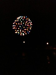 Fireworks in bellows falls