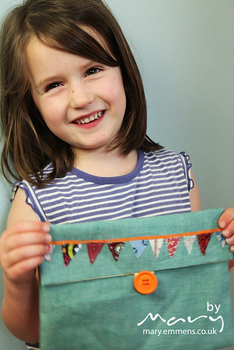 Leah and her bunting purse