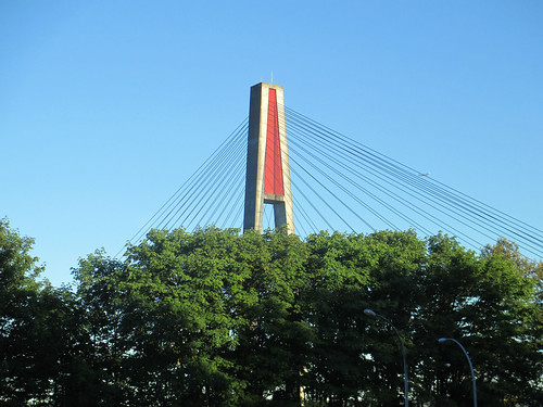 Skytrain bridge across Fraser River