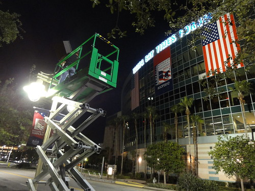 Adjusting the lighting of the Tampa Bay Times Forum