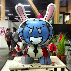 Finished up at the @kidrobot  booth, #BADJUJU in full effect get ready for the on slaught  #dunny #sketone magic