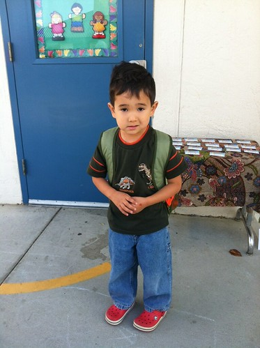 Nolan's first day of kindergarten