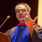12-020 -- Professor of Physics Narendra Jaggi spoke at the New Student Convocation.