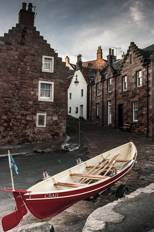 Boat at Crail Harbour