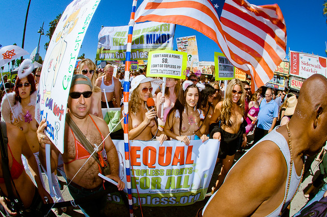 National Go Topless Protest Day http://www.flickr.com/photos/yovenice/7876313604/