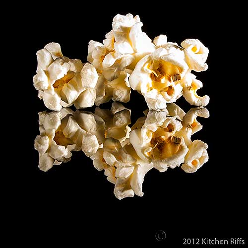Microwave Popcorn on Black Acrylic