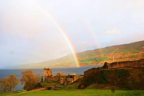 Rainbow at Castle Urquhart