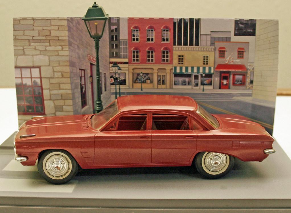 1961 Pontiac Tempest 4 Door Sedan Promo Model Car  - Dawnfire Mist Poly