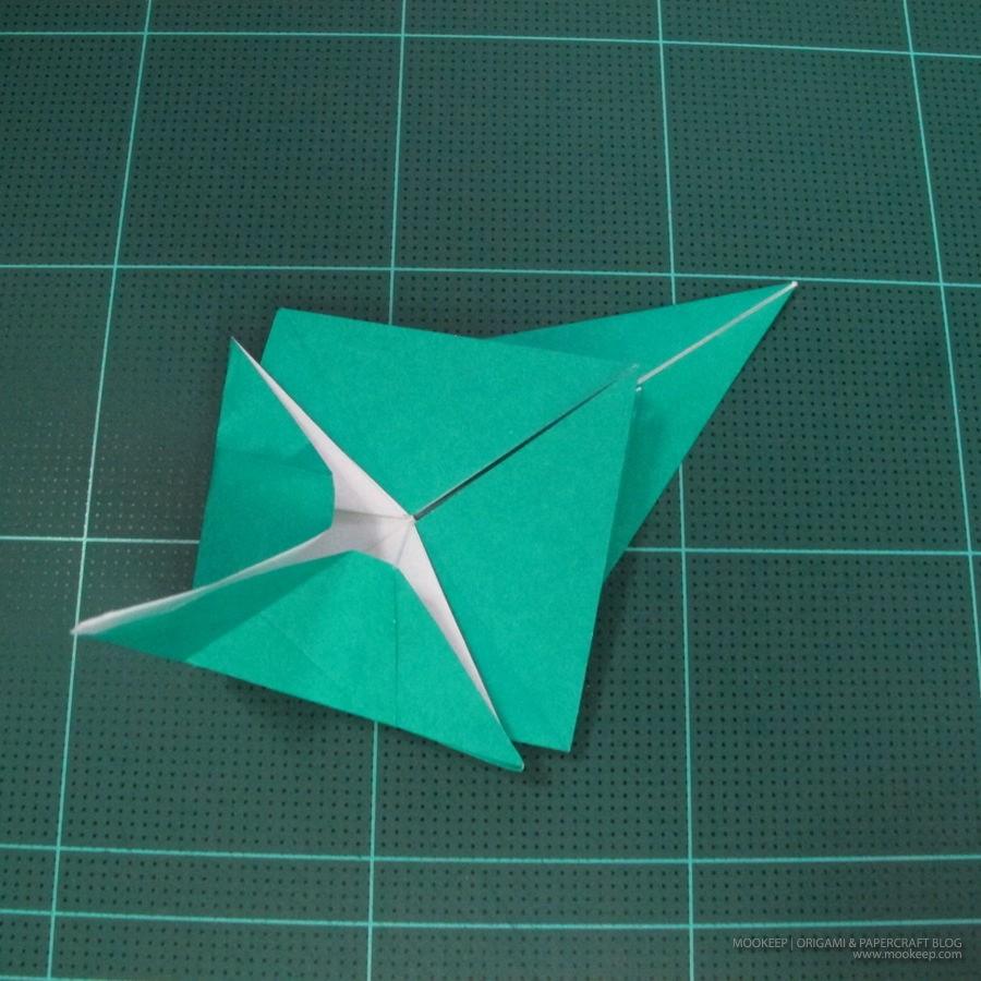 วิธีพับกระดาษเป็นรูปหมู (Origami Pig) 009