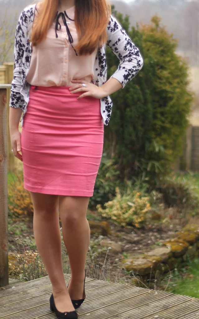 Spring pastel with block heels