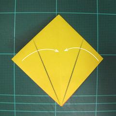 วิธีพับกระดาษเป็นรูปนกยูง (Origami Peacock - ピーコックの折り紙) 016