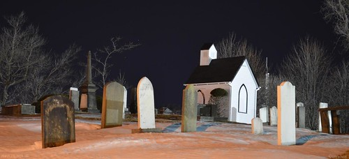 graveyard by night