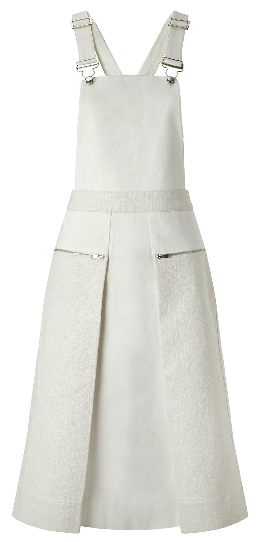 whistles white dungaree dress