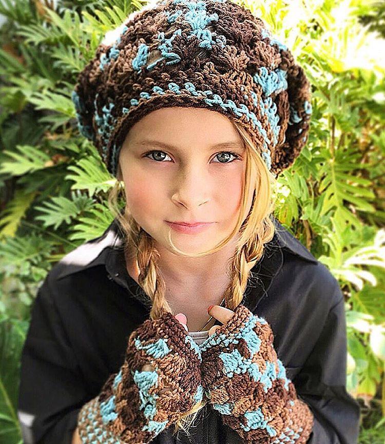 The Rowan Slouchy Hat Fingerless Gloves The Crochet Pattern Is