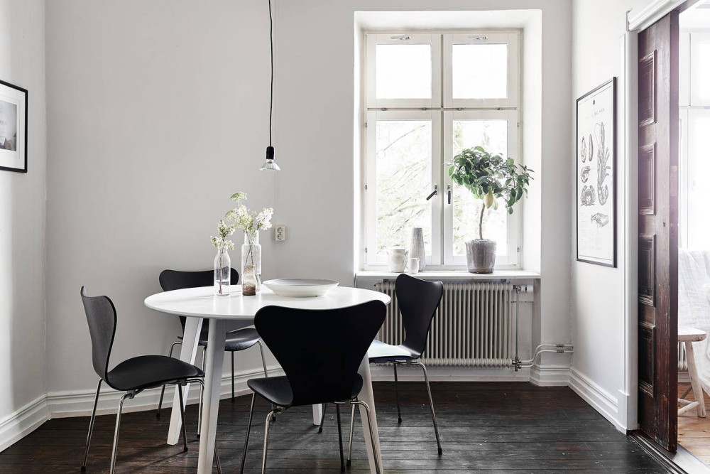 Scandinavian Home With Dark Accents