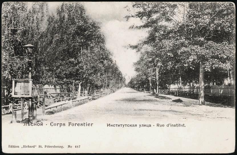 Лѣсной. Институтская улица = Corps Forestier. Rue d'institut_Страница_1