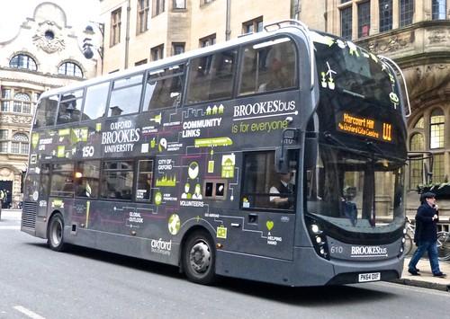 PK64 OXF 'Oxford Bus Company' 610 ADL E400 MMC on Dennis Basford's 'railsroadsrunways.blogspot.co.uk