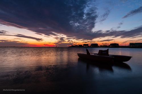 beach sunrise alba cesenatico canon70d