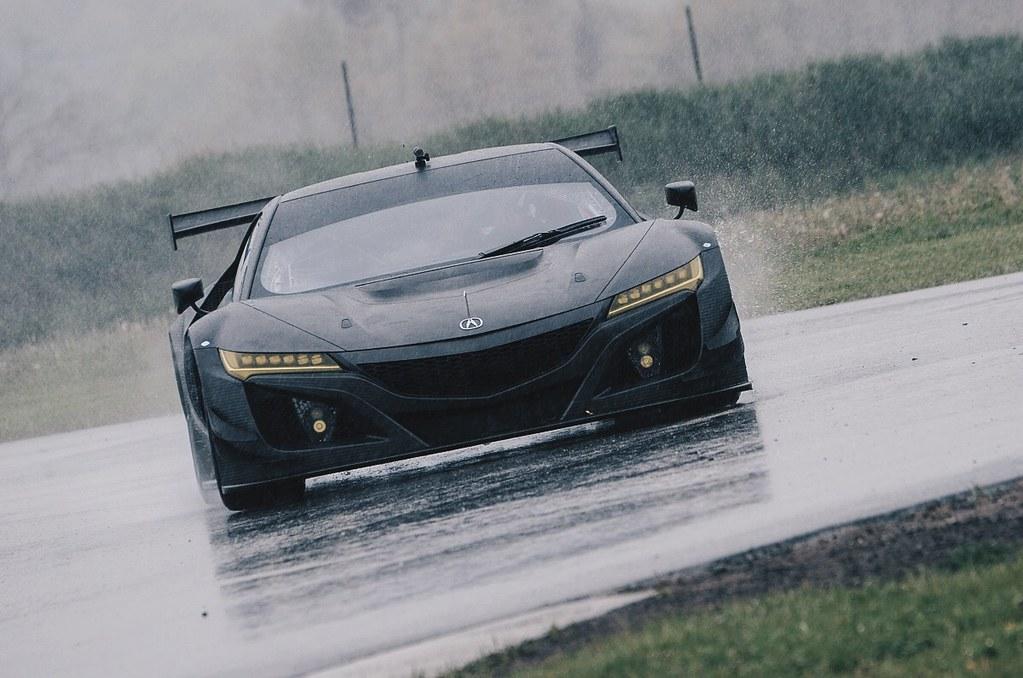 Acura NSX GT3 Racecar Prepares