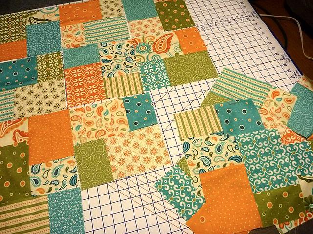 start of Ajay's quilt