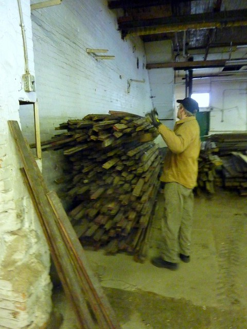 Ian picking from maple flooring