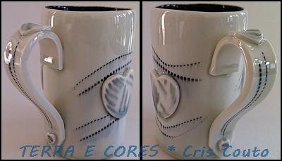 Caneca em porcelana by cris couto 73