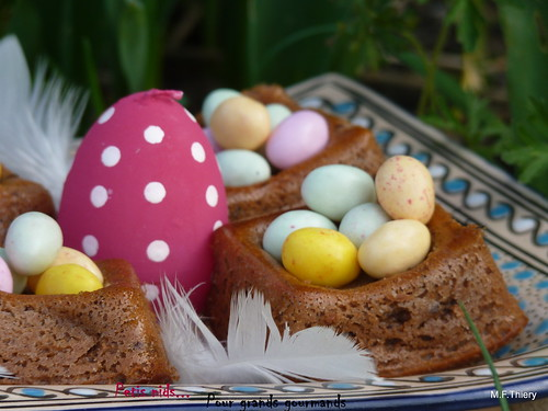 Petits nids de Pâques chocolat-citron