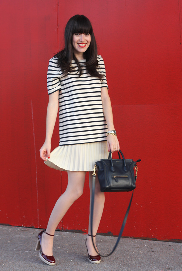 striped_dress_pleated_skirt_celine_bag1