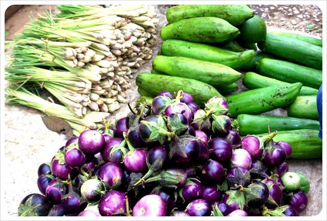 luang prabang morning market vegetables