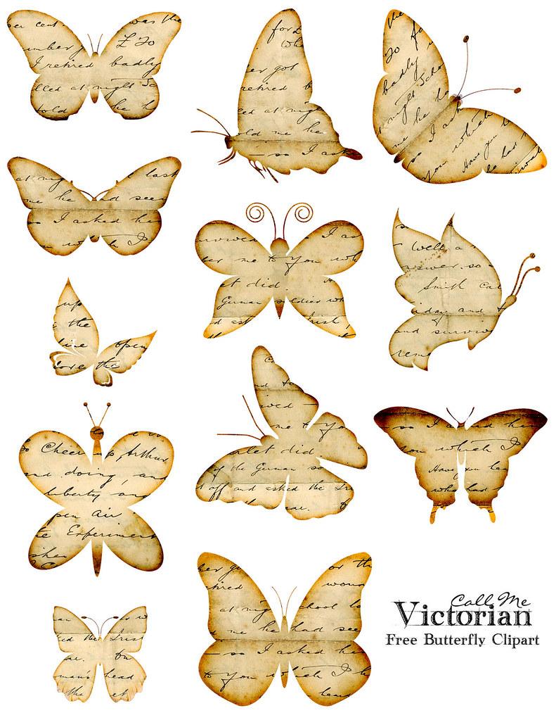 Kelebekli Dekupaj Resimleri