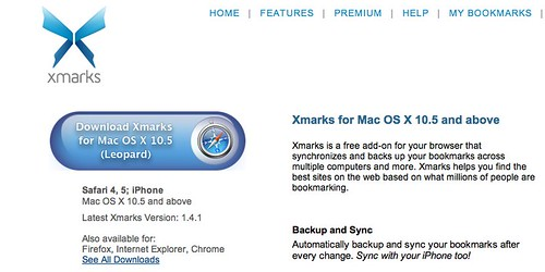 Download Xmarks for Mac OS X 10.5 (Leopard)