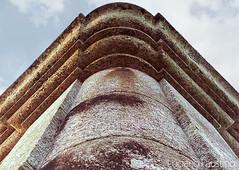 Detalhe da torre da basílica de Iguape