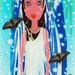 Hideki Sando, dessin numérique marouflé sur plexiglas