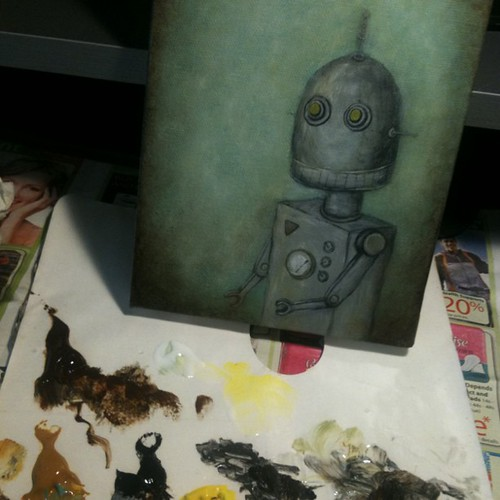 New robot painting in progress. Help me name him?