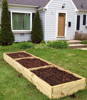 Front Yard Veggie Box Garden