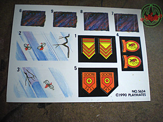 """MEGA MUTANTS"" TEENAGE MUTANT NINJA TURTLES :: NEEDLENOSE / Deadly Military Fighter Decals (( 1990 ))"