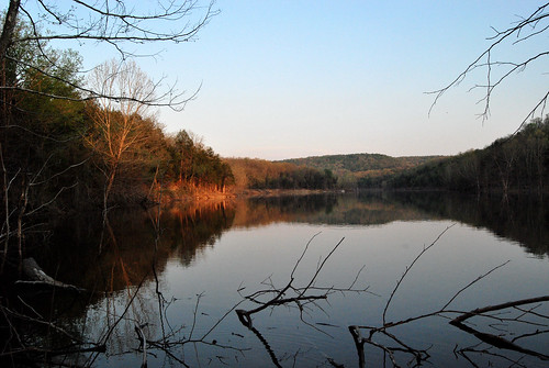 Picture showing a Sunset on Table Rock Lake at Piney Creek Wilderness.