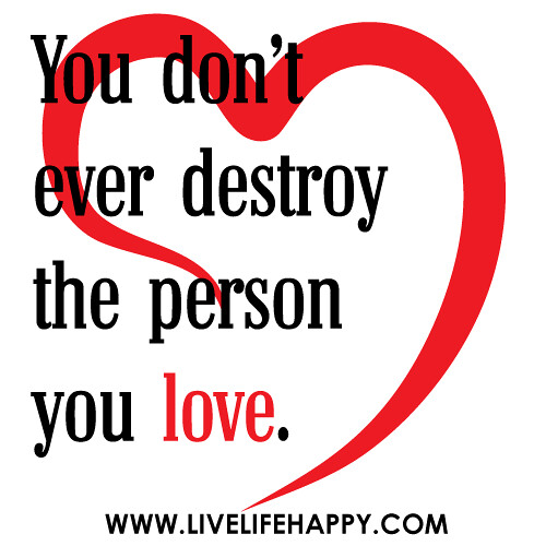When the person you love