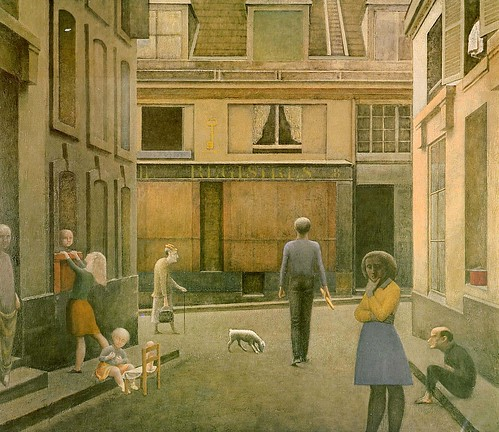 Balthus - Walk of Commerce, Saint-Andre [1954] by Gandalf's Gallery