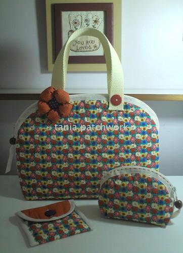 Conjunto Bolsas Primavera by tania patchwork