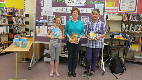 Pamela with Conrad Elementary Students in Prince Rupert