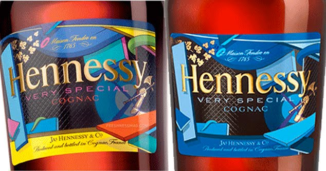 both hennessy kaws labels