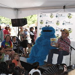 KLRU 50th Birthday Party 2012 364 Daytripper's Chet Garner reads with Cookie Monster