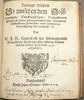 Ms. ownership inscription of Wernerus Kipius of Bodenwerder, Germany (including date of purchase), preceded by evidence of another ms. inscription excised from leaf. Woodcut title ornament, used by Johann Stange of Wolfenbüttel by Penn Provenance Project